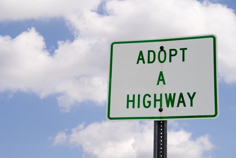 Adopt a Highway stock photos