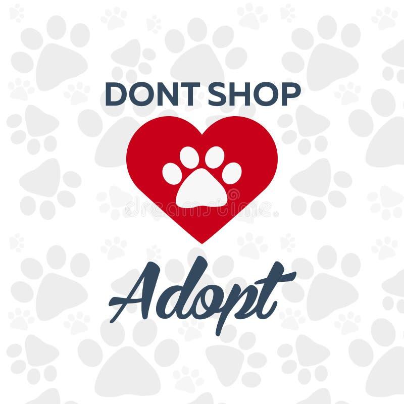 Adopt logo. Dont shop, adopt. Adoption concept. Vector illustration. Adopt logo. Dont shop, adopt. Adoption concept Vector illustration vector illustration