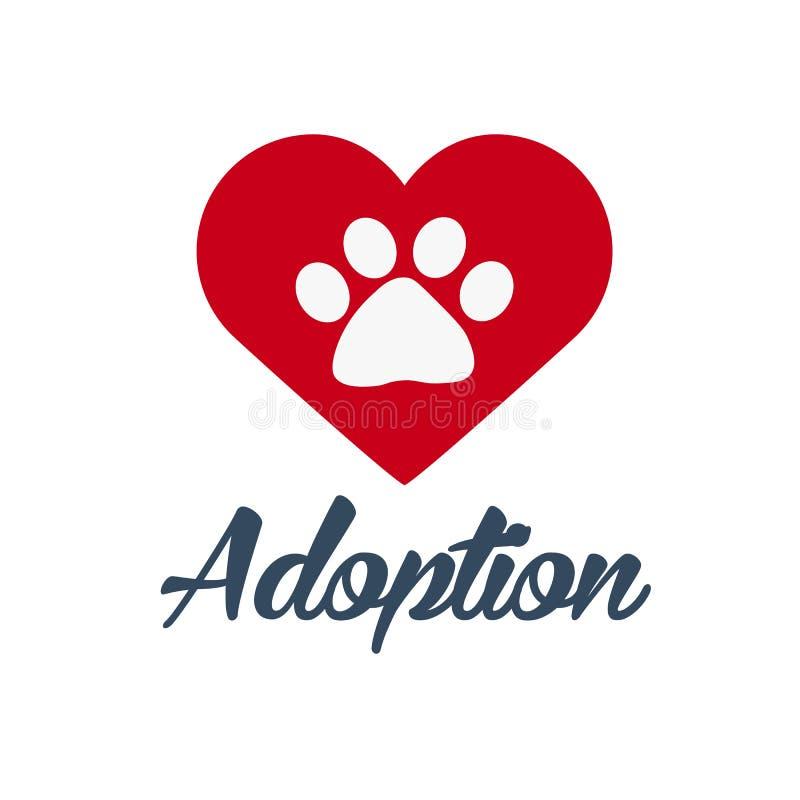 Adopt logo. Dont shop, adopt. Adoption concept. Vector illustration. Adopt logo. Dont shop, adopt. Adoption concept Vector illustration royalty free illustration