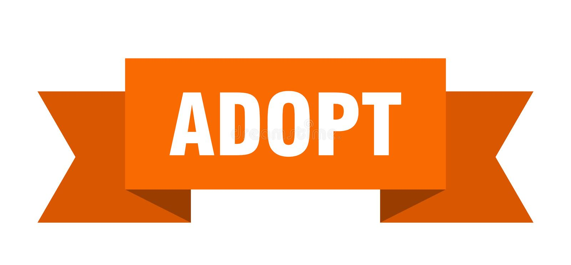 adopt ribbon. vector illustration