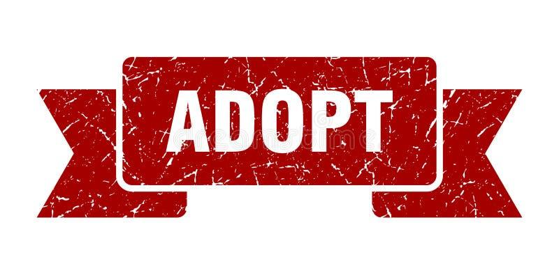 adopt ribbon. stock illustration