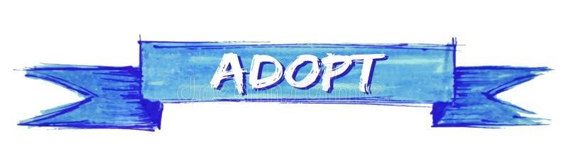adopt ribbon vector illustration