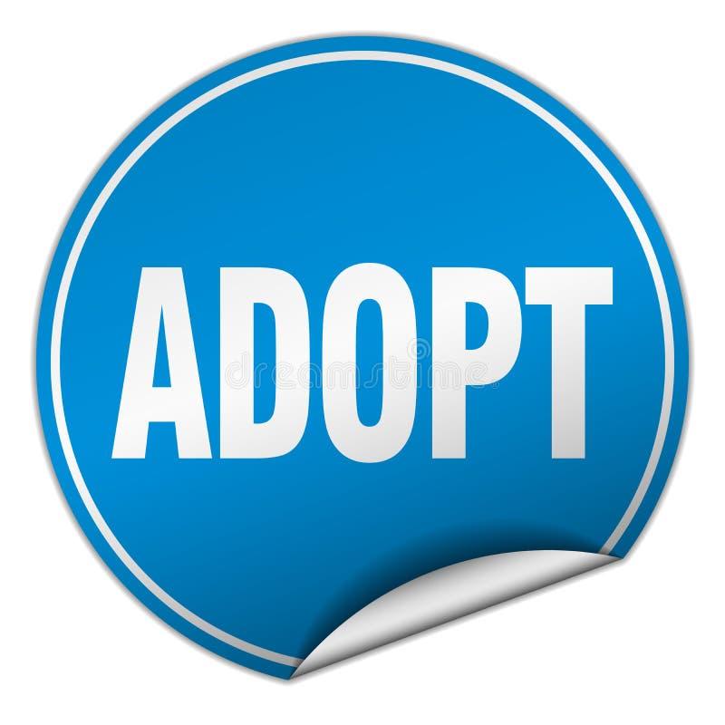 adopt sticker royalty free illustration
