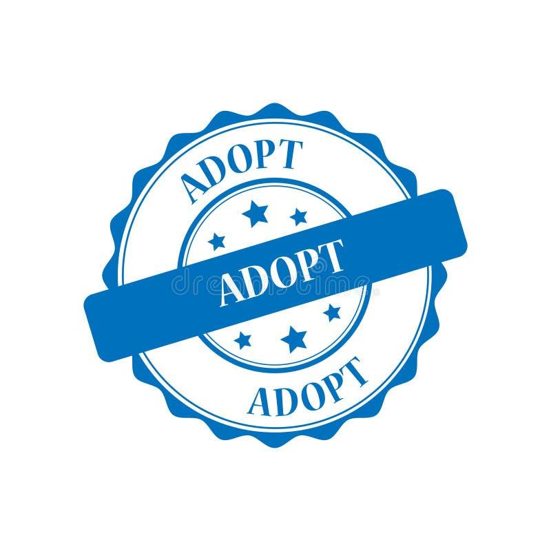 Adopt stamp illustration. Adopt blue stamp seal illustration design vector illustration