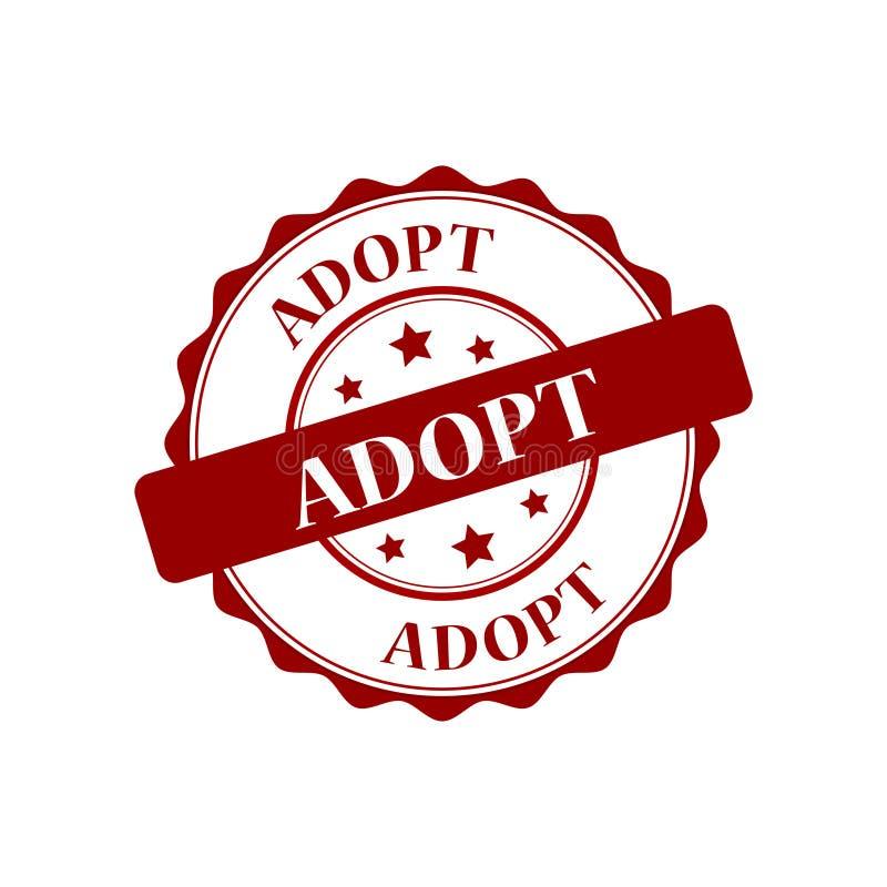Adopt stamp illustration. Adopt stamp seal stamp illustration royalty free illustration