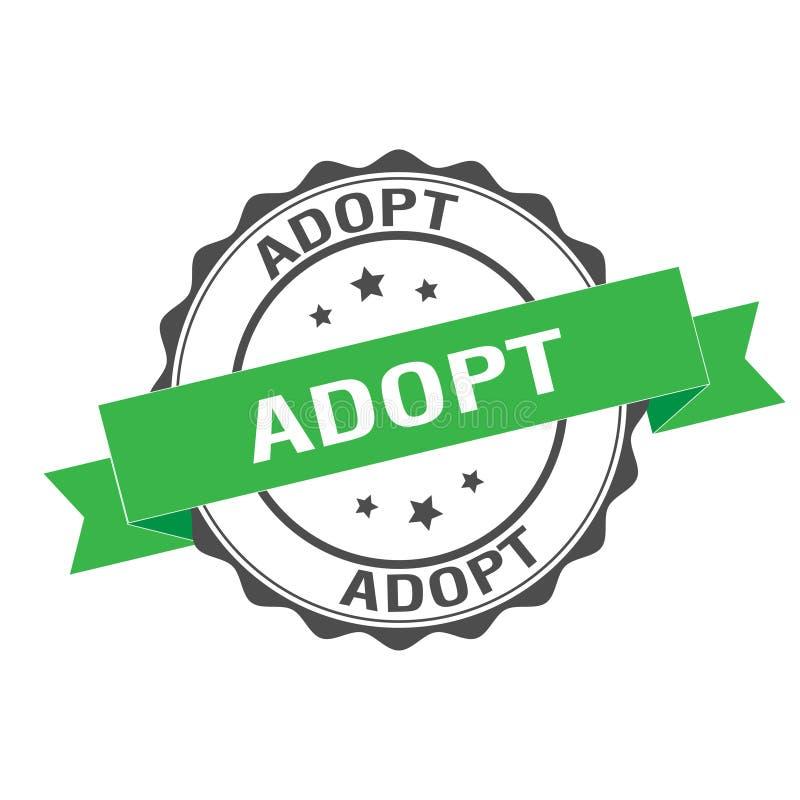 Adopt stamp illustration. Adopt stamp seal illustration design stock illustration