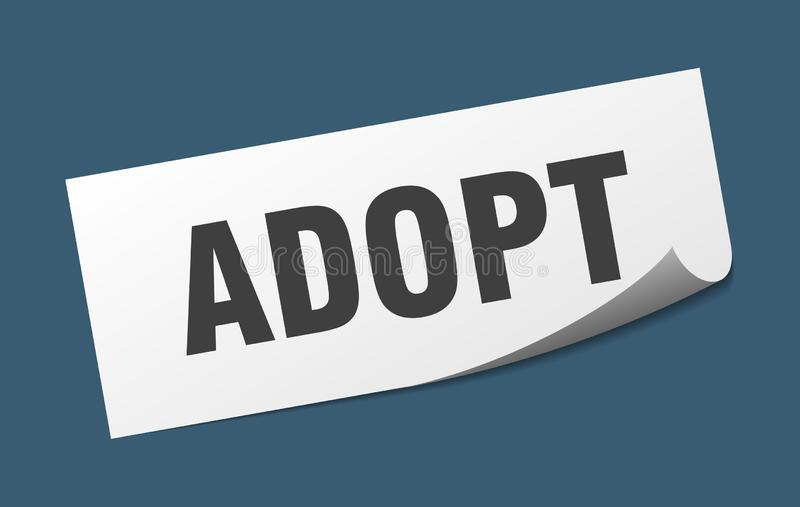 adopt sticker. royalty free illustration