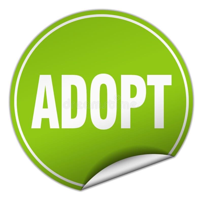 adopt sticker vector illustration