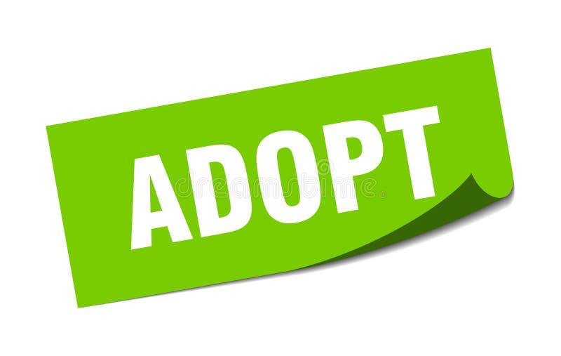 adopt sticker. vector illustration