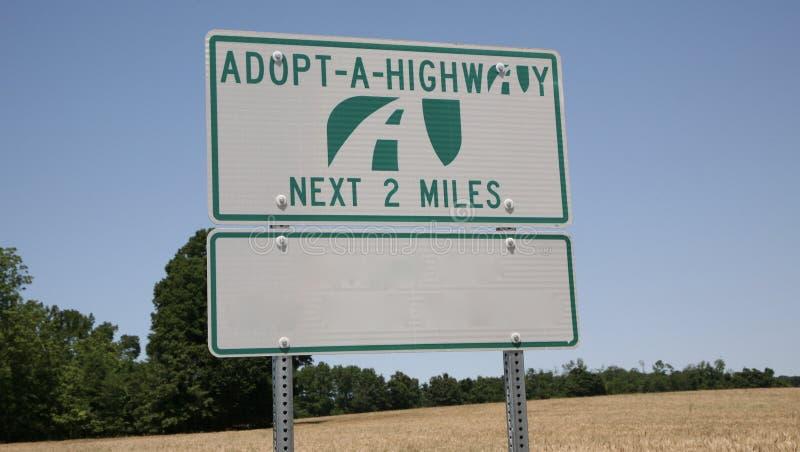 Adopte una carretera fotografía de archivo