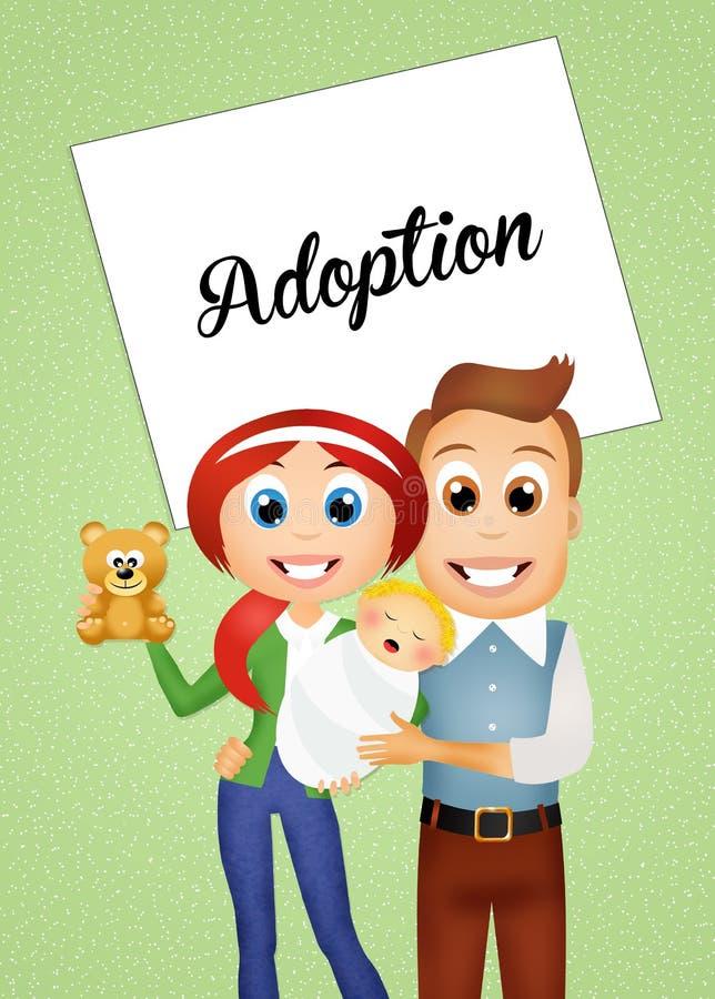adoption ilustração royalty free