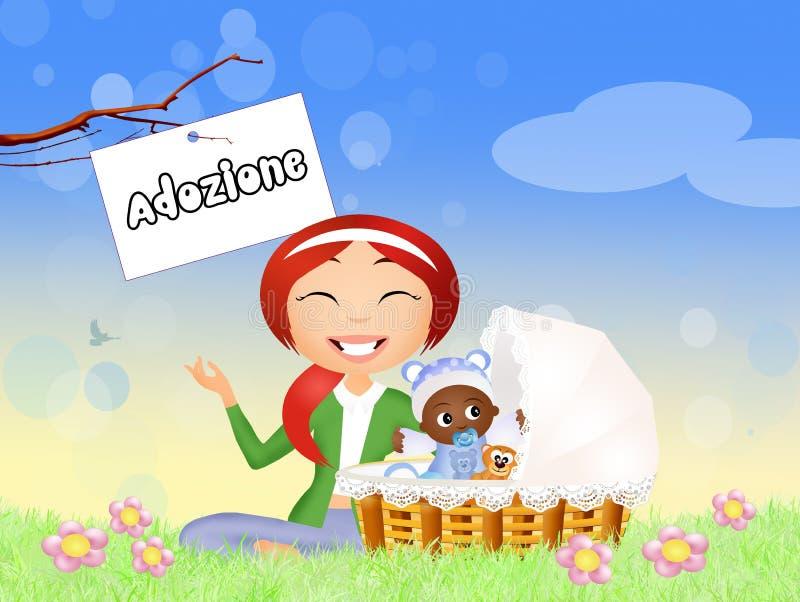 adoption ilustração stock