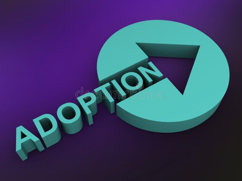 adoption illustration libre de droits