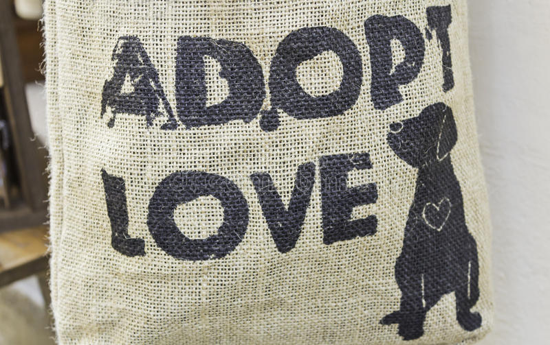 Adoption animale photographie stock