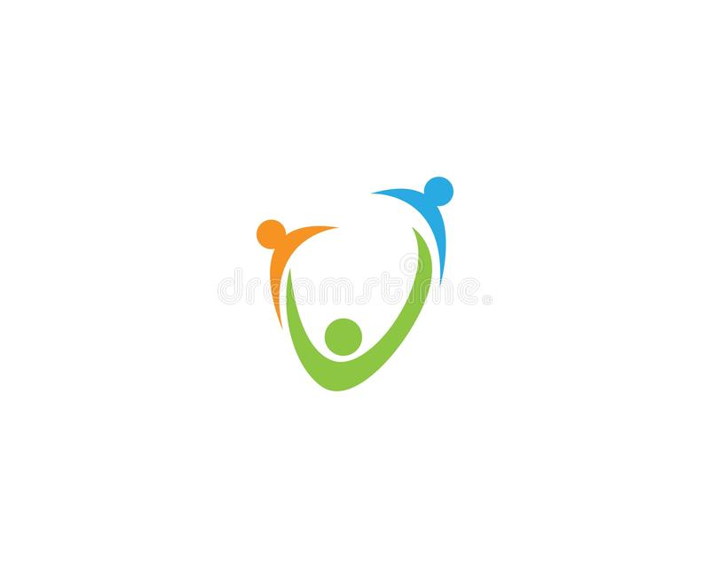 Adoption and community care logo and symbol template app.  royalty free illustration