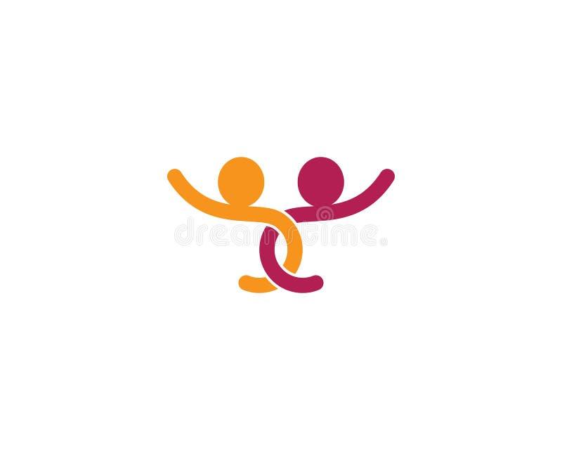 Community logo vector icon illustration. Adoption and community care logo template vector icon illustration design, success, finger, hand, friend, communication vector illustration