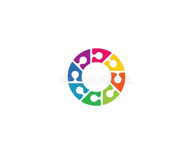 Adoption and community care logo template vector icon illustration. Design, success, finger, hand, friend, communication, children, puzzle, health, cooperation stock illustration