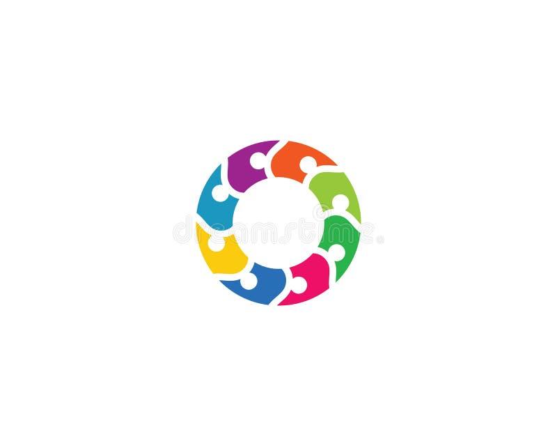 Adoption and community care logo template vector icon illustration. Design, success, finger, hand, friend, communication, children, puzzle, health, cooperation vector illustration