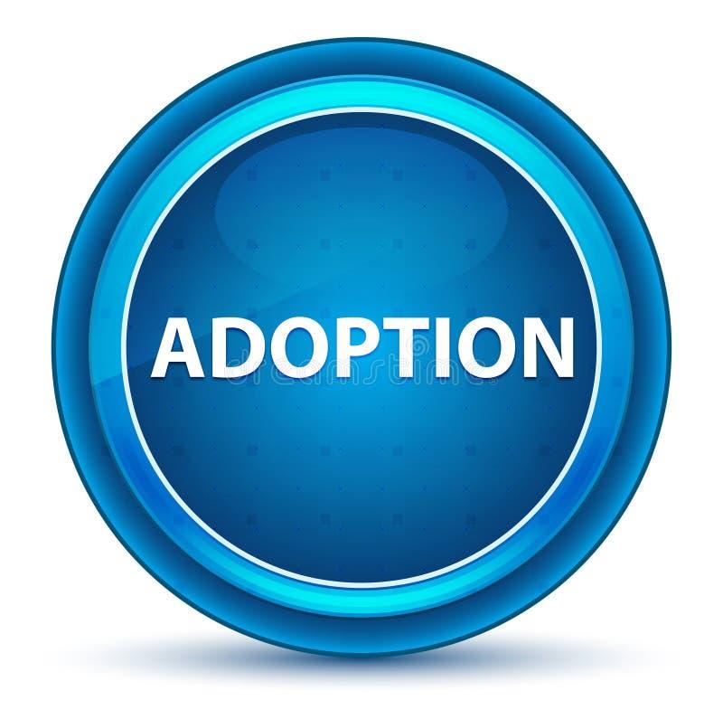 Adoption Eyeball Blue Round Button. Adoption Isolated on Eyeball Blue Round Button stock illustration