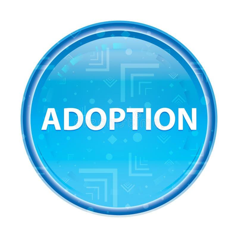 Adoption floral blue round button. Adoption Isolated on floral blue round button vector illustration