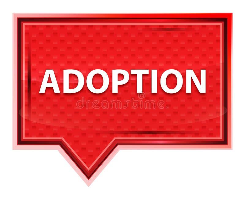 Adoption misty rose pink banner button. Adoption Isolated on misty rose pink banner button vector illustration