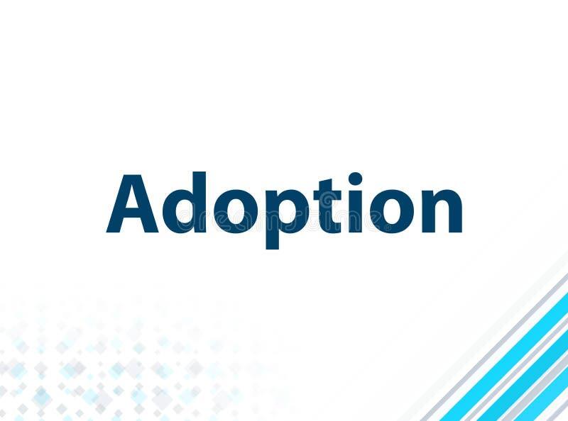 Adoption Modern Flat Design Blue Abstract Background. Adoption Isolated on Modern Flat Design Blue Abstract Background vector illustration