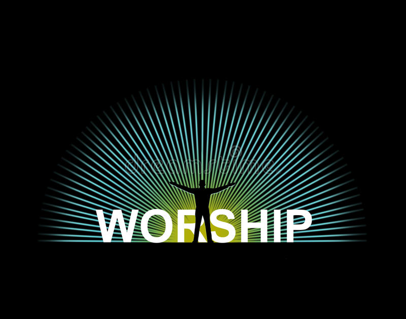 adoração ilustração stock