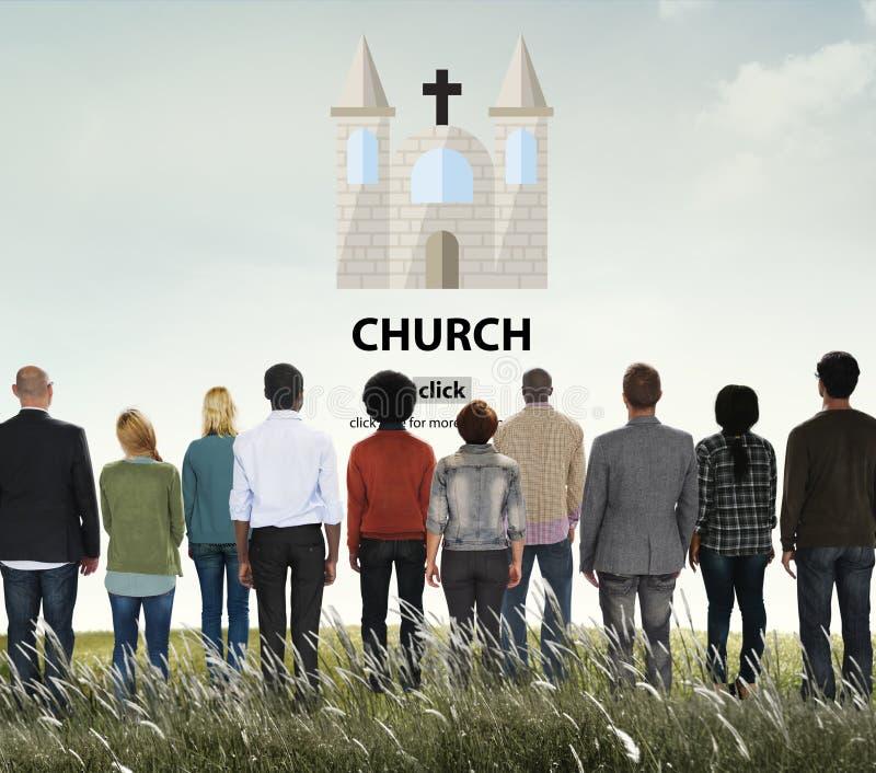 Adoração Co de Christian Catholic Protestant Orthodox Believe da igreja fotos de stock