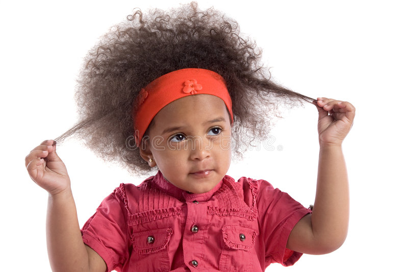 Download Adorable African Baby With Afro Hairstyle Royalty Free Stock Images - Image: 9029189