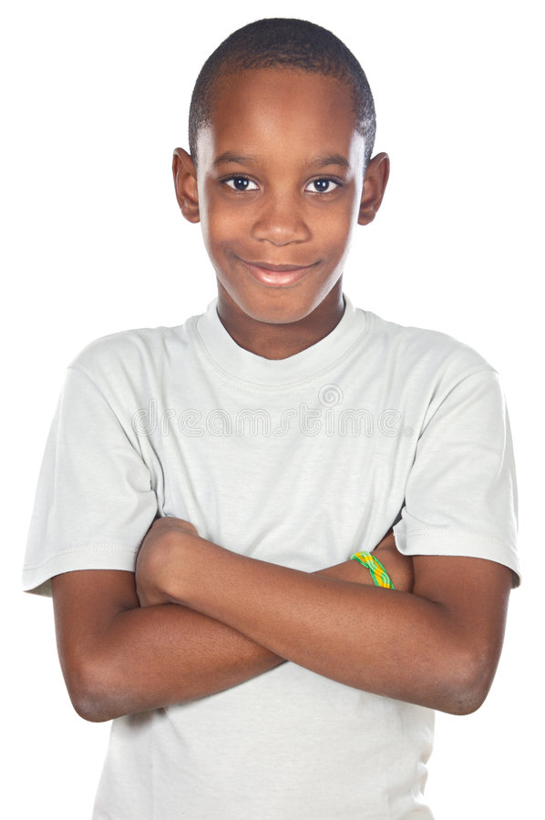 Adorable African boy stock image