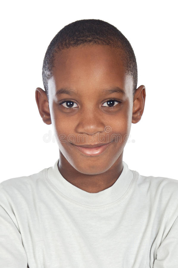 Adorable african preadolescent stock photography