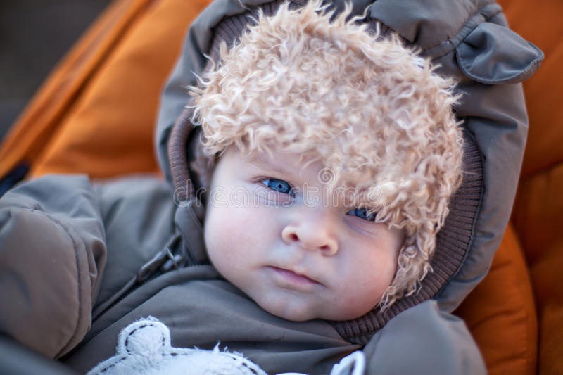 Download Adorable Baby Boy In Winter Clothes Stock Image - Image: 27037515