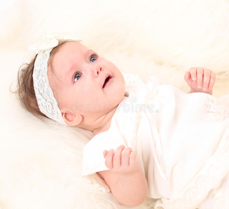 Adorable baby girl royalty free stock photography