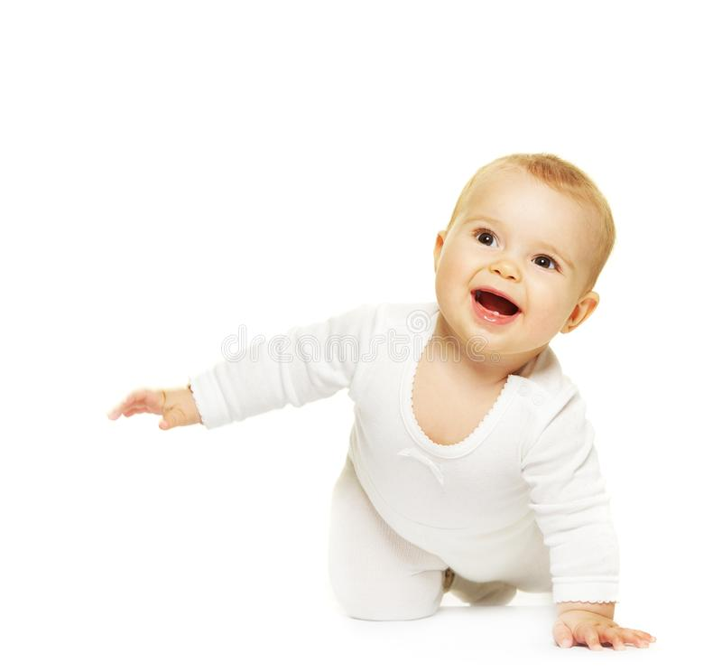 Adorable baby isolated on white stock photography