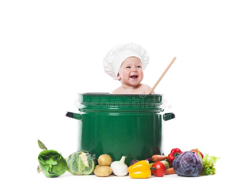 Little chef cooks stock image