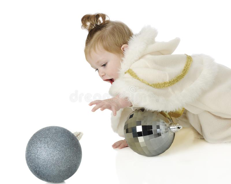 Ball-Chasing Snow Princess royalty free stock images