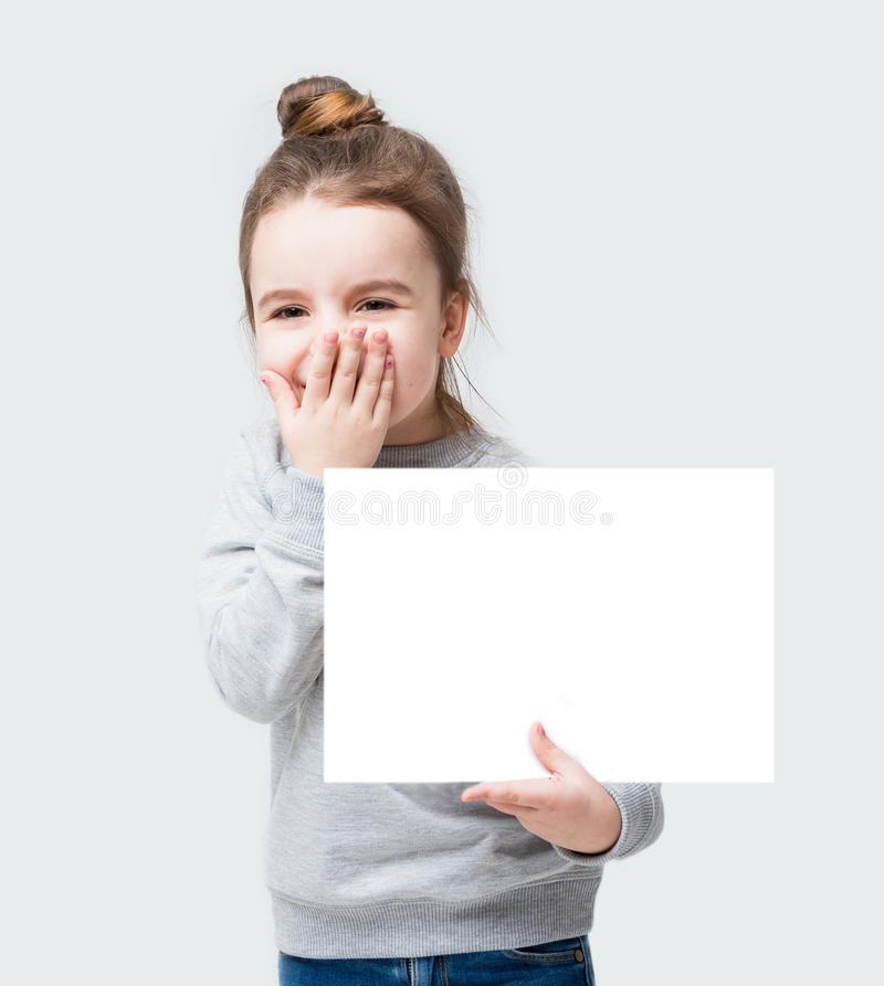Free Adorable Banner Girl Do Not Speak Royalty Free Stock Images - 65511399