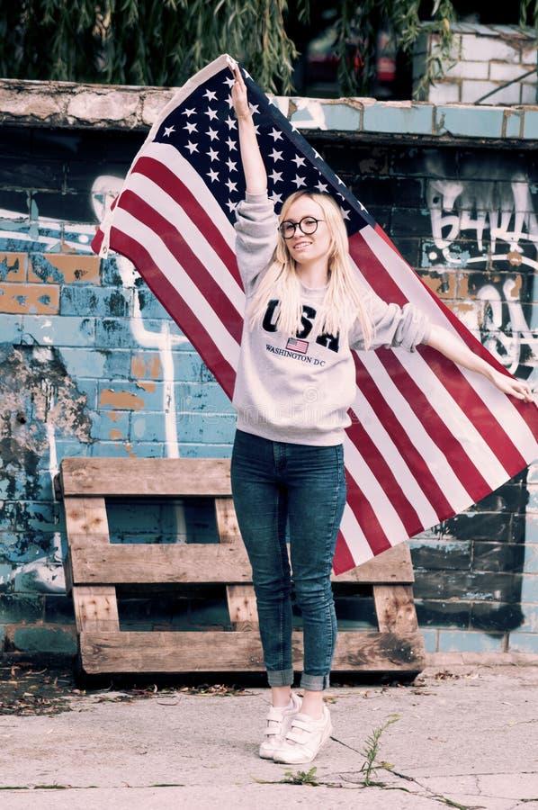 Adorable blonde girl posing royalty free stock image