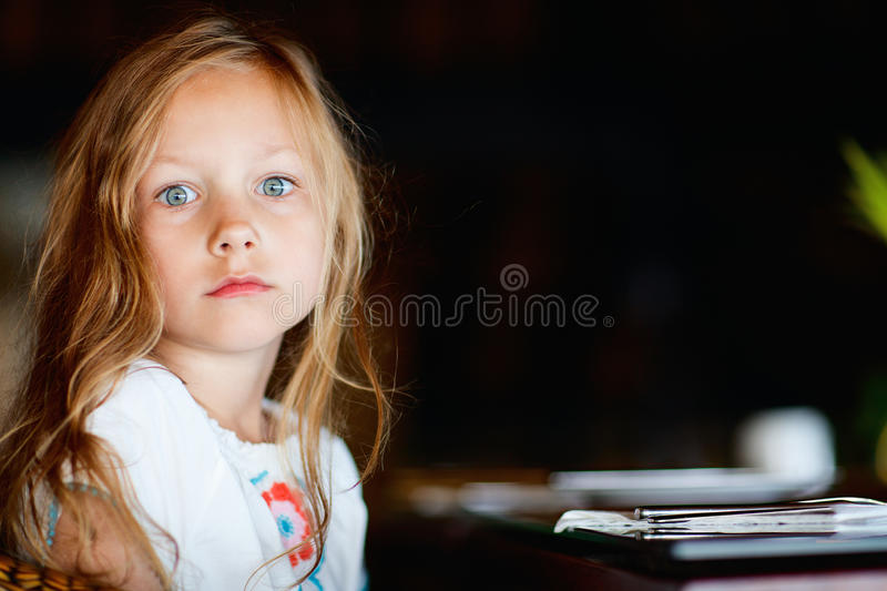 Adorable blonde little girl royalty free stock images