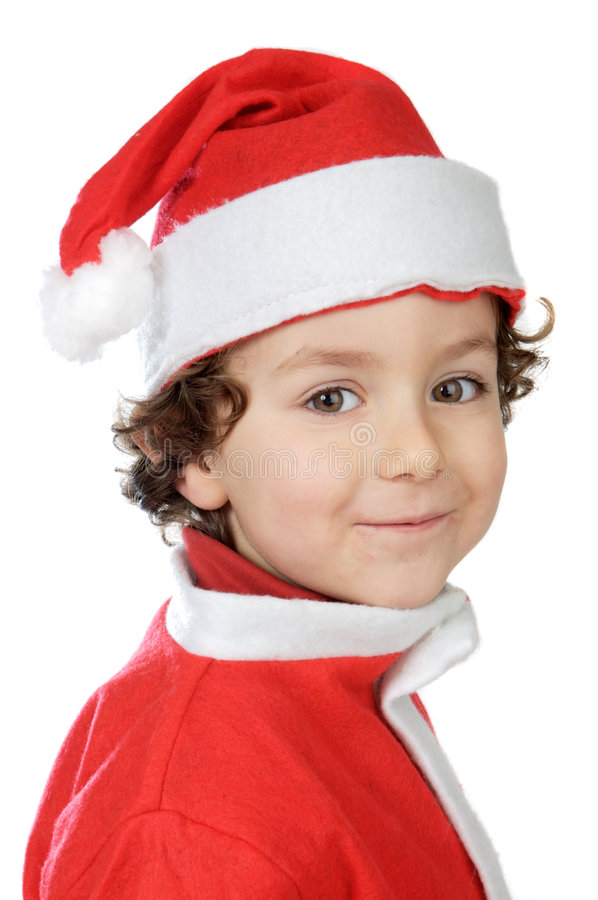 Adorable boy in christmas royalty free stock images