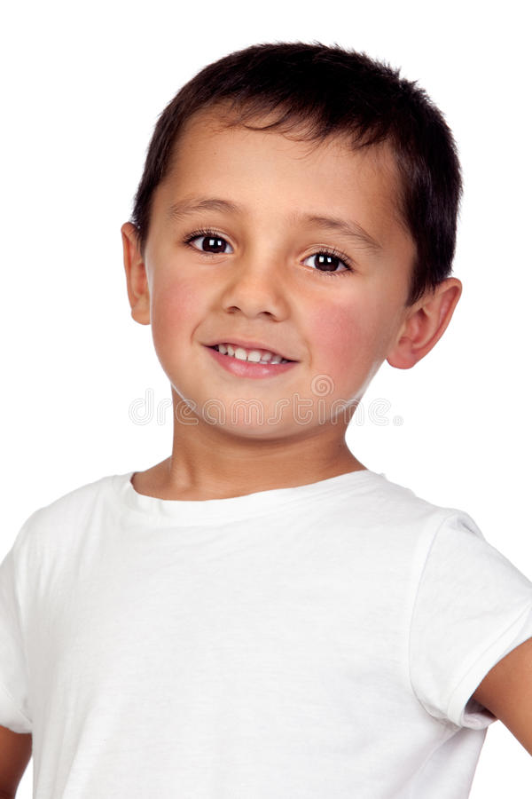 Download Adorable Boy With Dark Eyes Stock Image - Image of male, gladness: 27597063