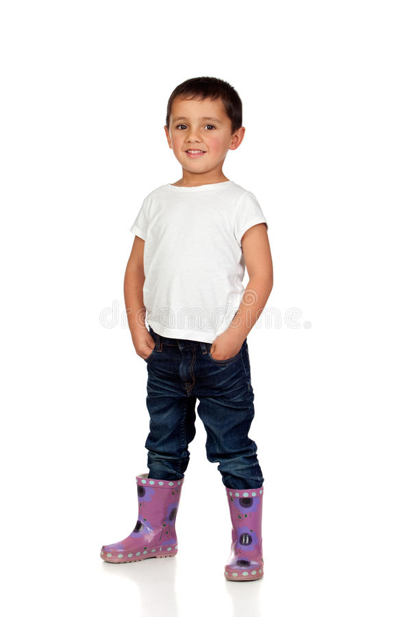 Download Adorable Boy With Dark Eyes Stock Photo - Image: 27597216