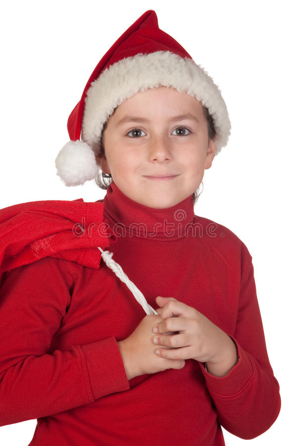 Download Adorable Boy With Santa Hat Stock Image - Image: 11916959