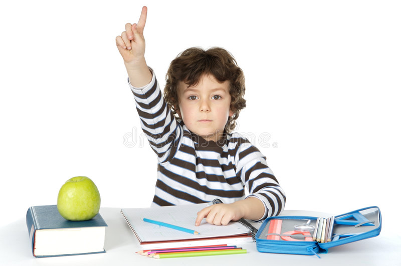 Download Adorable boy studying stock photo. Image of baby, children - 1973598