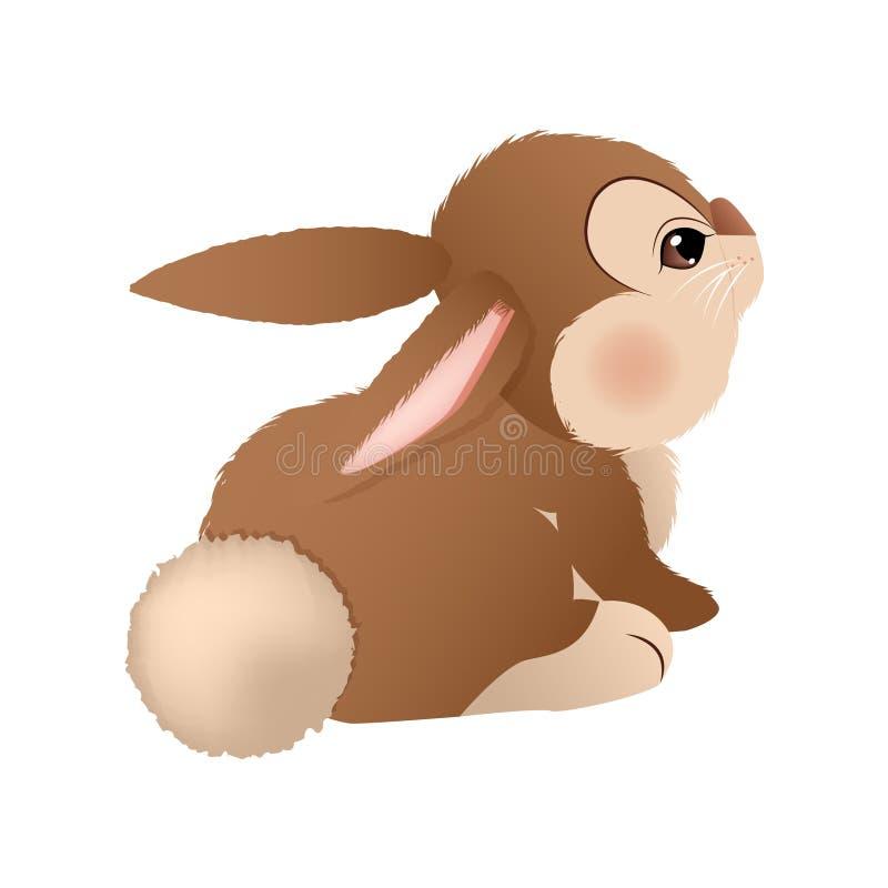 Adorable brown bunny. Vector stock photos