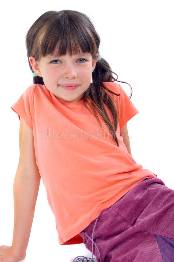 Adorable brunette girl royalty free stock images