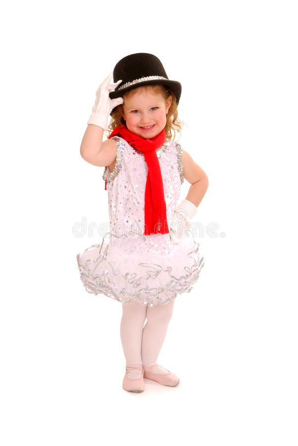 Adorable Child in Ballet Costume. Adorable child dancer in ballet costume stock photos