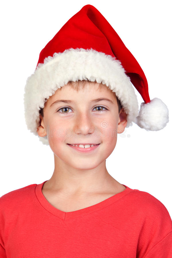 Free Adorable Child With Santa Hat Stock Photos - 16341843
