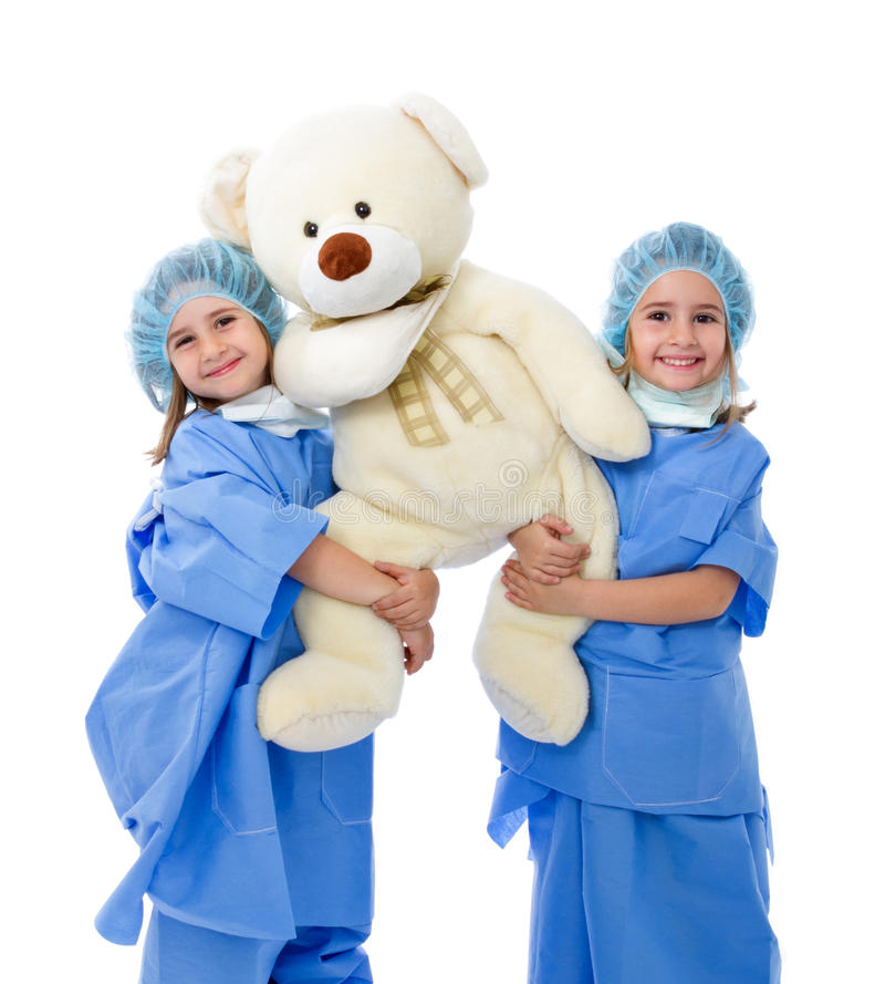 Adorable children doctor royalty free stock photography