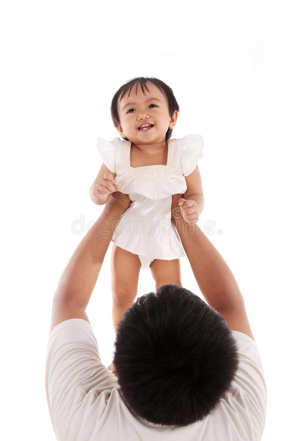 Download Adorable Family Moment Between Father And Daughter Stock Image - Image: 23241543